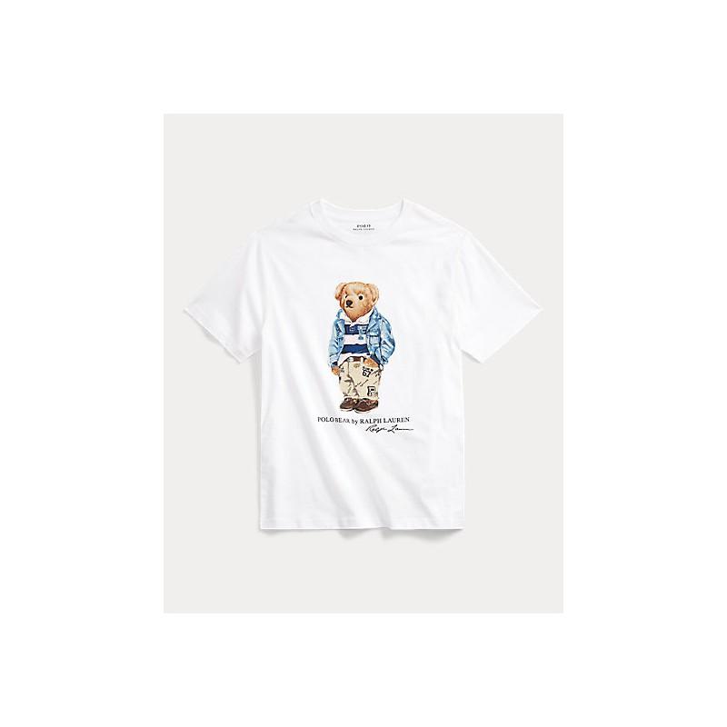 POLO RALPH LAUREN KIDS - T-Shirt print Bear Cotton