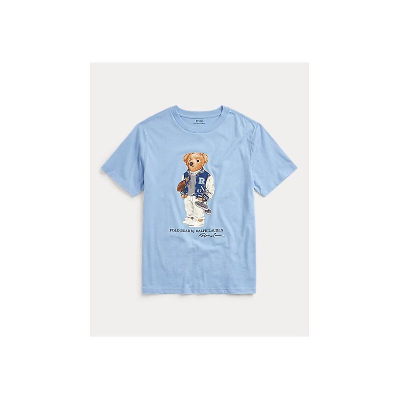 POLO RALPH LAUREN KIDS - T-Shirt Bear Stampa Cotone