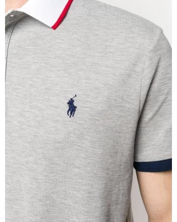 POLO RALPH LAUREN - Nautical Polo short sleeve cod 710791004 color grey