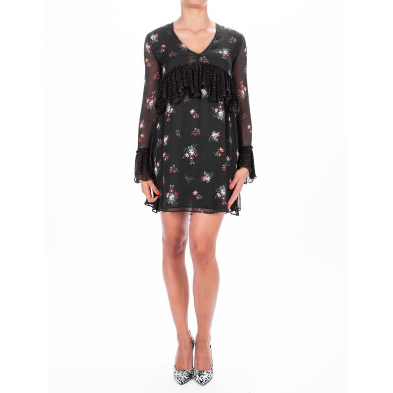 PINKO - Viscose Dress CITOFONO - Black/Red