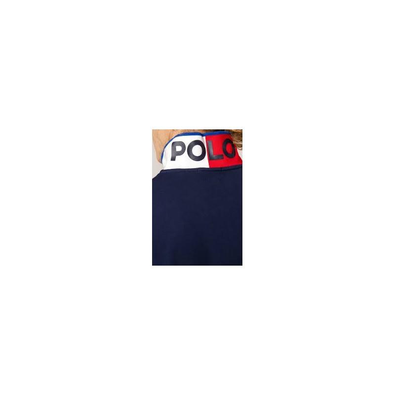 POLO RALPH LAUREN - Nautical Polo Manica Corta Art 710791004 Colore Blu Navy