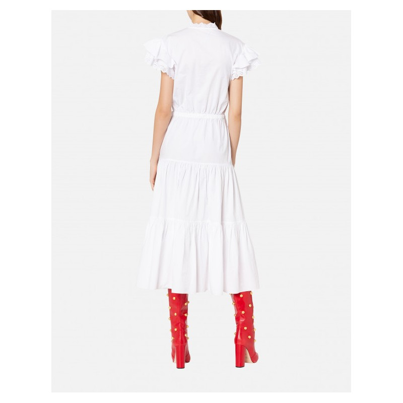 PHILOSOPHY di LORENZO SERAFINI  - St Gallen lace Dress - White
