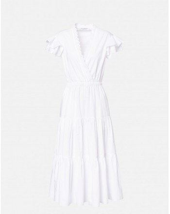 PHILOSOPHY di LORENZO SERAFINI  - St Gallen lace Dress - White
