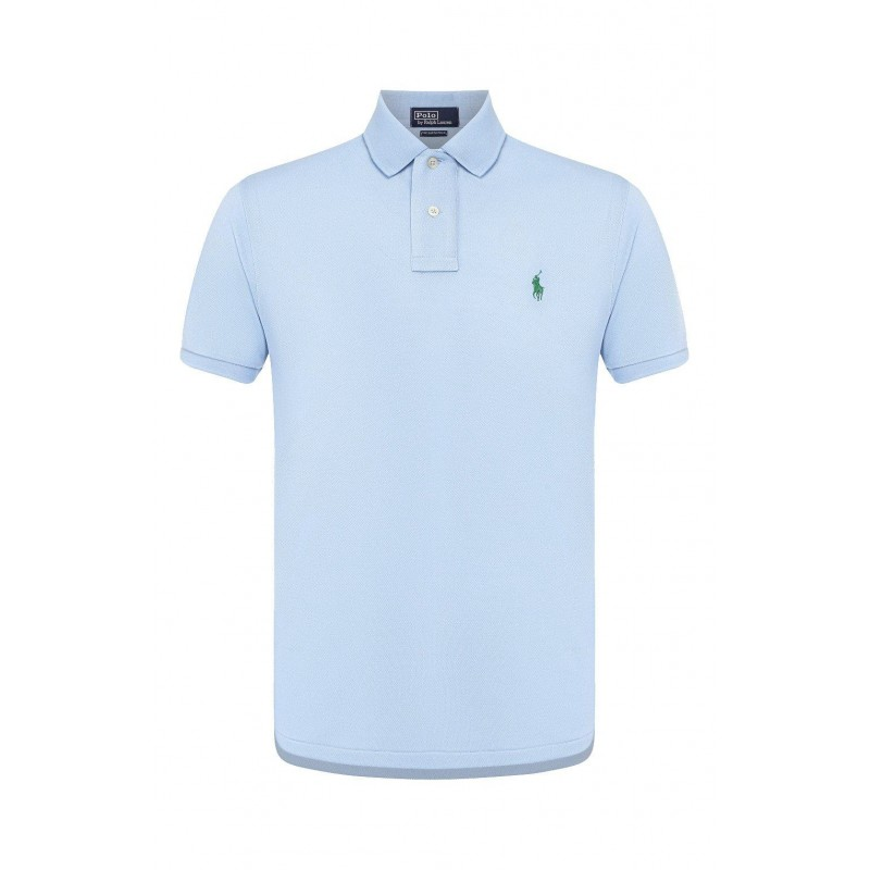 POLO RALPH LAUREN - Polo in Cotone Ecosostenibile  - Baby Blue