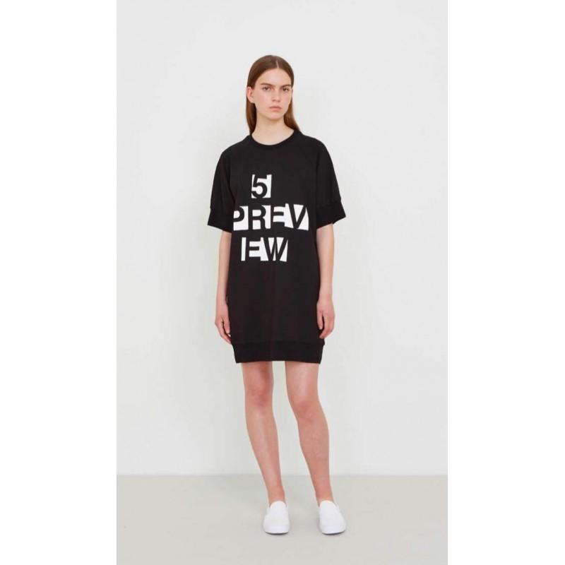 5 Preview - BORI Fleece Dress - Black