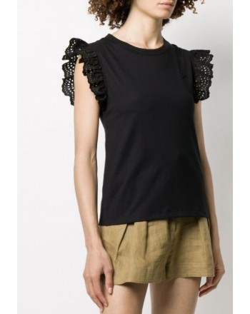 PHILOSOPHY di LORENZO SERAFINI - T-Shirt con rouches - Nero