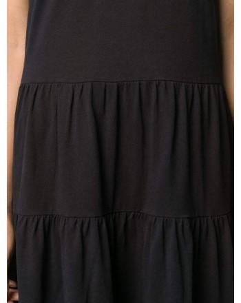 RED VALENTINO  -  LONG T-SHIRT MODEL DRESS -  NERO