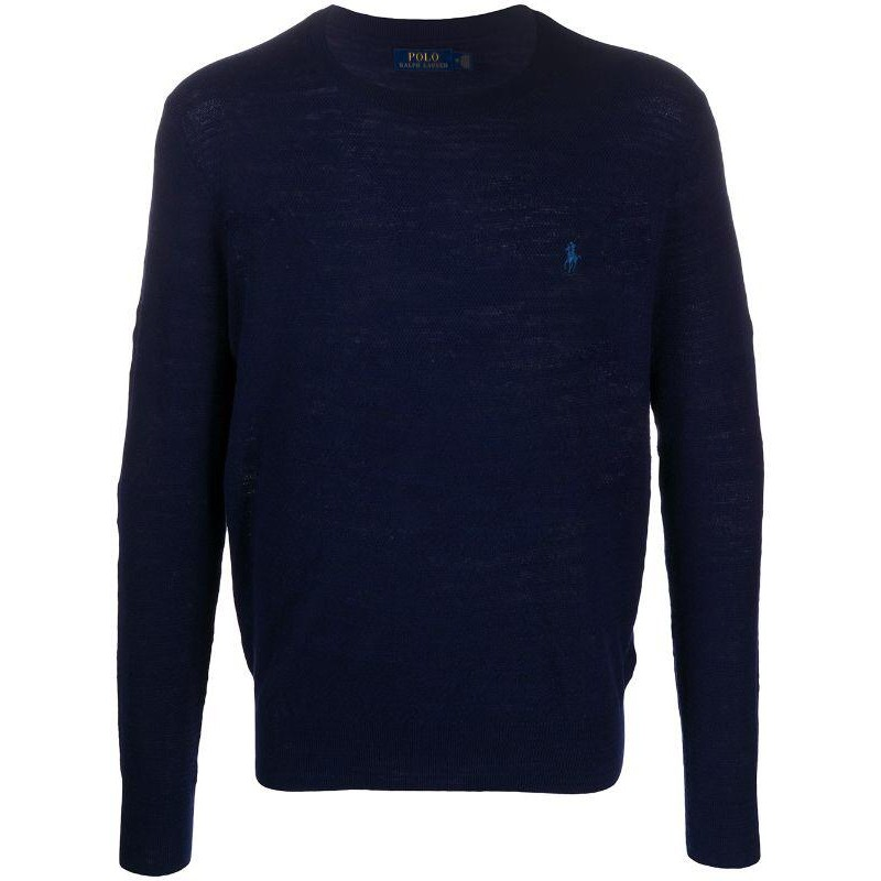 POLO RALPH LAUREN - Rice Seed Logo Cotton Knit - Bright Navy