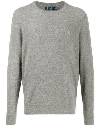 POLO RALPH LAUREN - Rice Seed Logo Cotton Knit - Fawn Grey