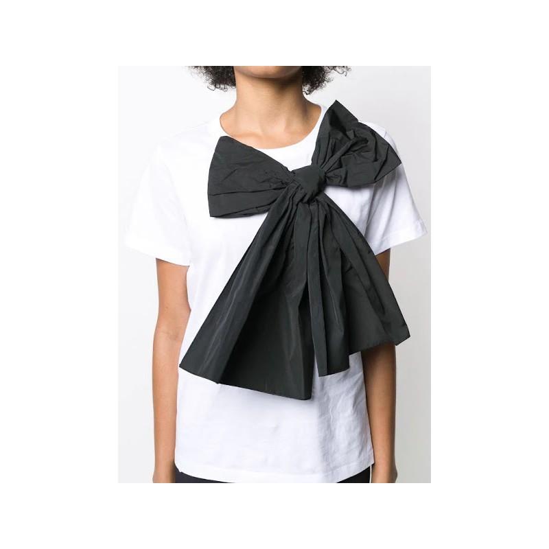 RED VALENTINO - T-Shirt con fiocco - Bianco/Nero