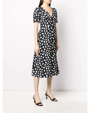 MICHAEL BY MICHAEL KORS - Floral V-neckline Dress - Black
