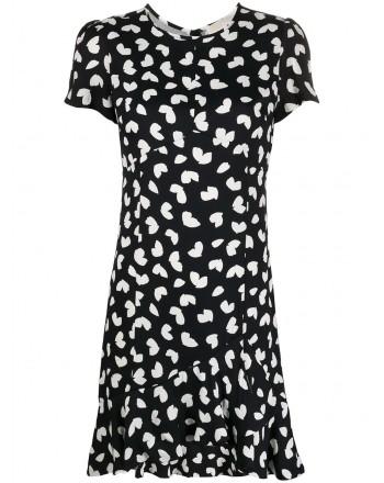 MICHAEL BY MICHAEL KORS - Roundneck floral dress - Black