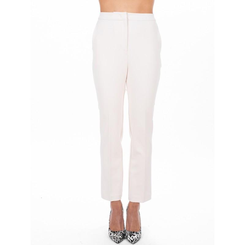 PINKO - Pantalone in crepe ERASMO - Bianco