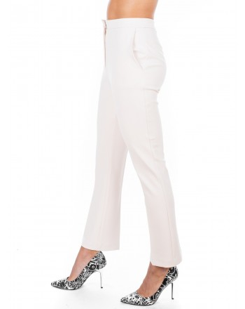 PINKO - Crepe Trousers ERASMO - White