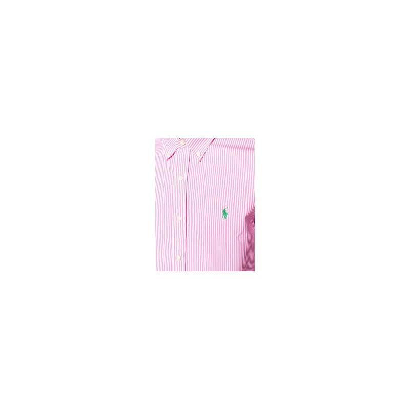 POLO RALPH LAUREN - Camicia in Cotone  Slim Fit - Bianco/Rosa
