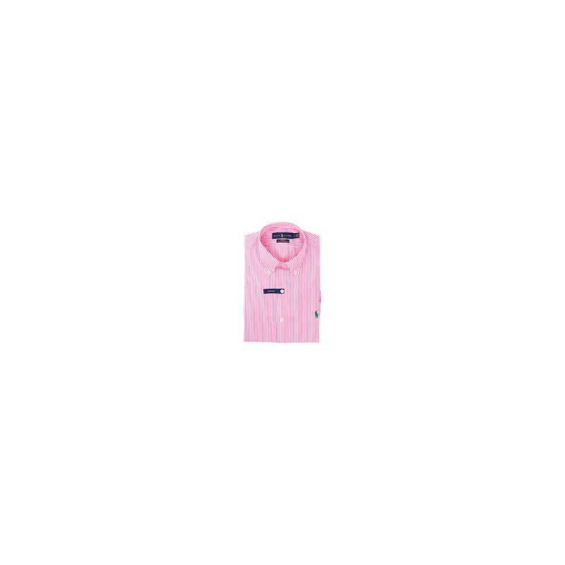 POLO RALPH LAUREN - Cotton Slim Fit Shirt - White/Pink