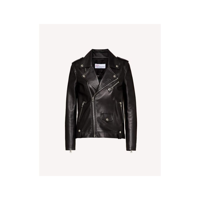 RED VALENTINO - Biker leather - Black