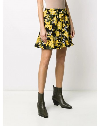MICHAEL BY MICHAEL KORS -  Floral skirt - Black