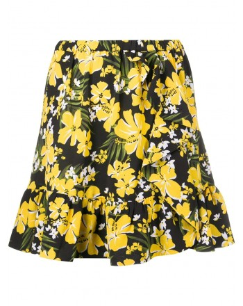 MICHAEL BY MICHAEL KORS -  Floral skirt - Black