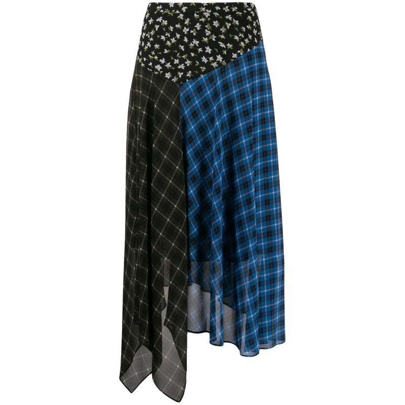 MICHAEL BY MICHAEL KORS - Tartan skirt - Vintage blue