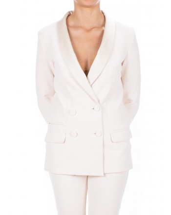 PINKO - Giacca in crepe stretch PIRIMO - Bianco