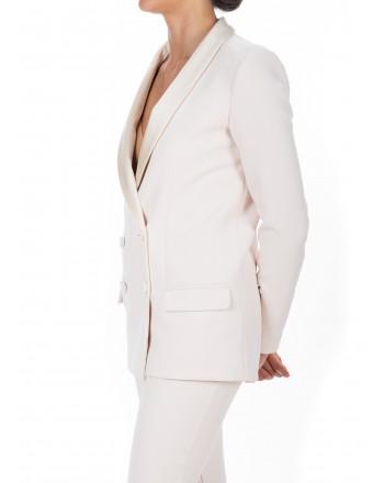 PINKO - Stretch Crepe Jacket  PIRIMO - White
