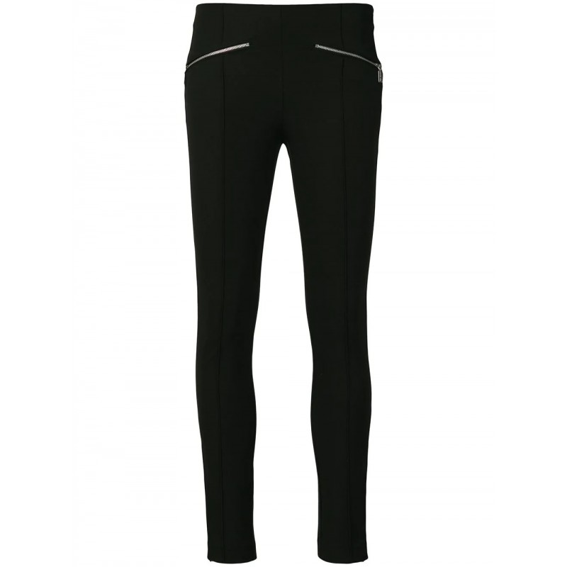 MICHAEL by MICHAEL KORS - Skinny trousers with logoed zip - Black