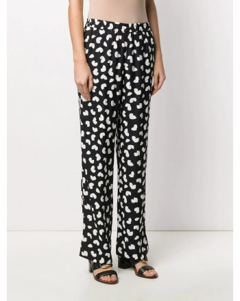 MICHAEL BY MICHAEL KORS - Viscose floral trousers - Black