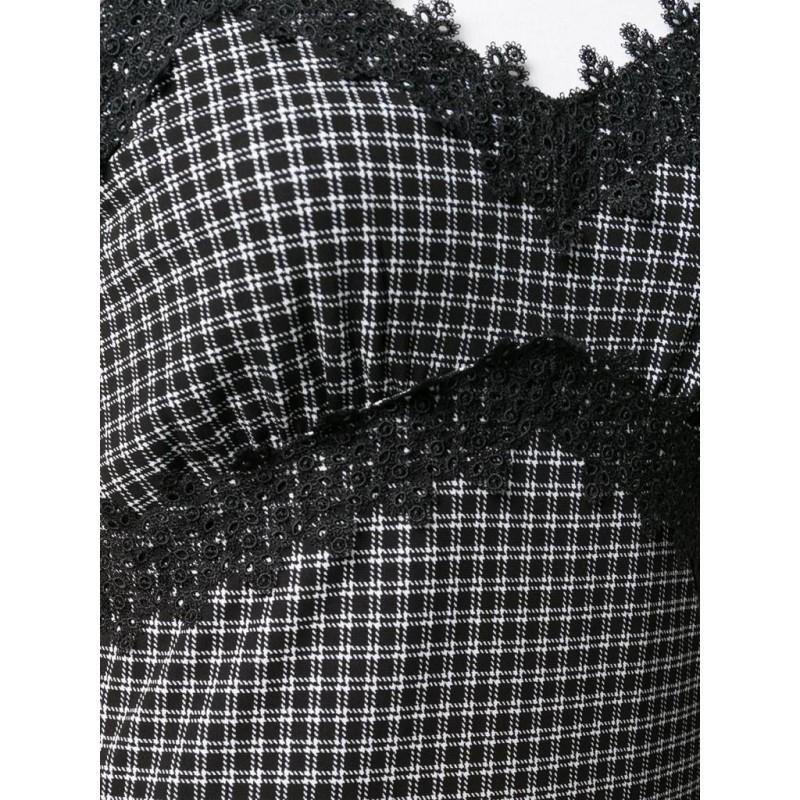 MICHAEL by MICHAEL KORS - Abito Stampa Quadretti- Nero/Bianco
