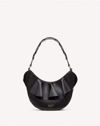 RED VALENTINO - ROCK RUFFLES shoulder bag - Black