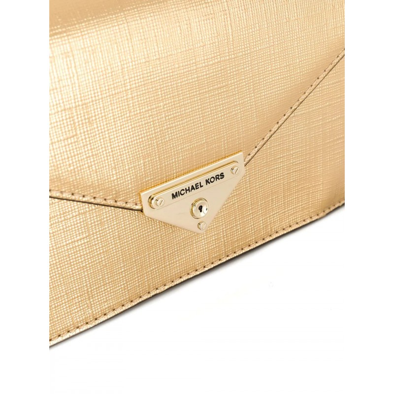 MICHAEL by MICHAEL Kors- MD CLUTCH Bag- Pale Gold