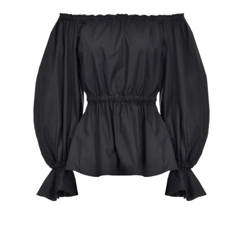 PINKO - FLINTONES blouse in stretch cotton - Black