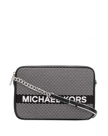 MICHAEL by MICHAEL KORS - Borsa CROSSBODIES Logo Stampato  - Nero/Bianco