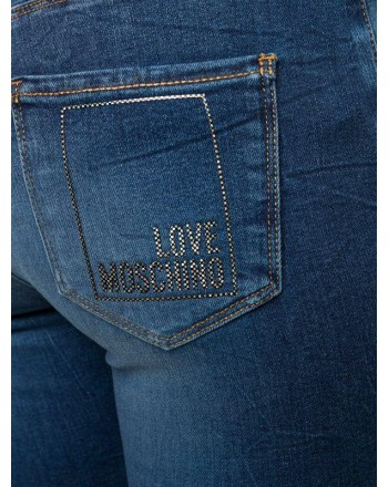 LOVE MOSCHINO - Jeans modello skinny in cotone - Denim