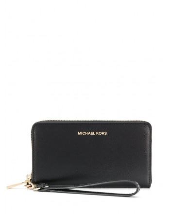 MICHAEL BY MICHAEL KORS - Portafoglio in pelle con Zip  - Nero