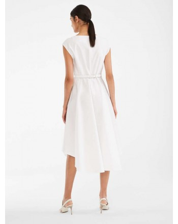 MAX MARA STUDIO - Cotton Popeline PRIMO Midi Dress- White