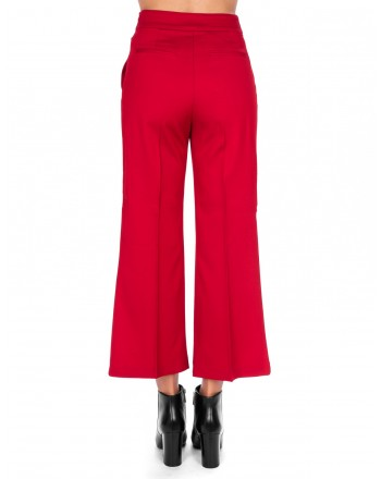 PINKO - EDMOND trouser in wool and viscose - Red