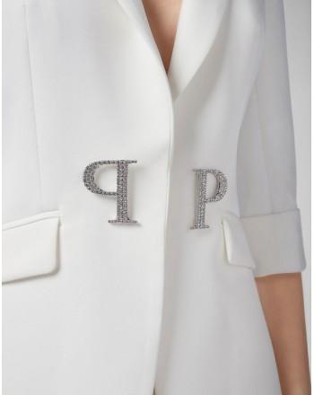 PHILIPP PLEIN - Cristal Plein Blazer - white