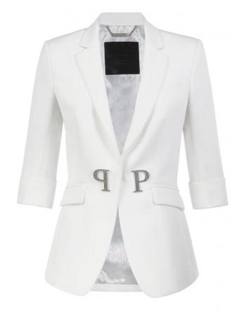 PHILIPP PLEIN - Blazer Cristal Plein - bianco