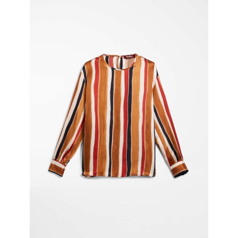 MAX MARA STUDIO -Silk Shirt ABELIA - Terracotta