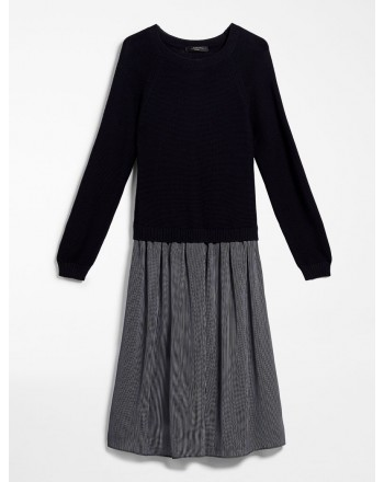MAX MARA WEEKEND - Abito in georgette e cotone - HELIER - Blu