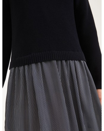 MAX MARA WEEKEND - Georgette and cotton dress - Blue