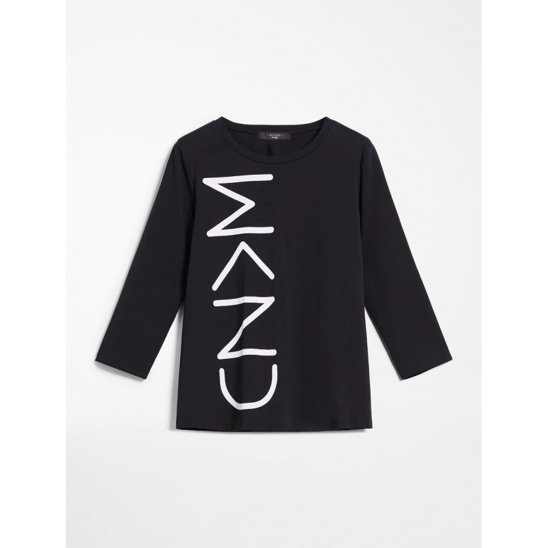MAX MARA WEEKEND - Stretch jersey blouse - Black