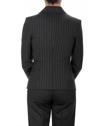 PINKO - Light Wool Striped QUASIMODO Jacket  - Black/Grey