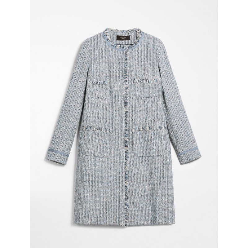 MAX MARA WEEKEND - Coat in cotton mat - Cornflower