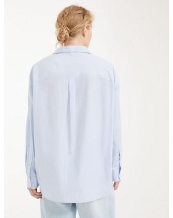 MAX MARA WEEKEND - Cotton poplin shirt - Light blue