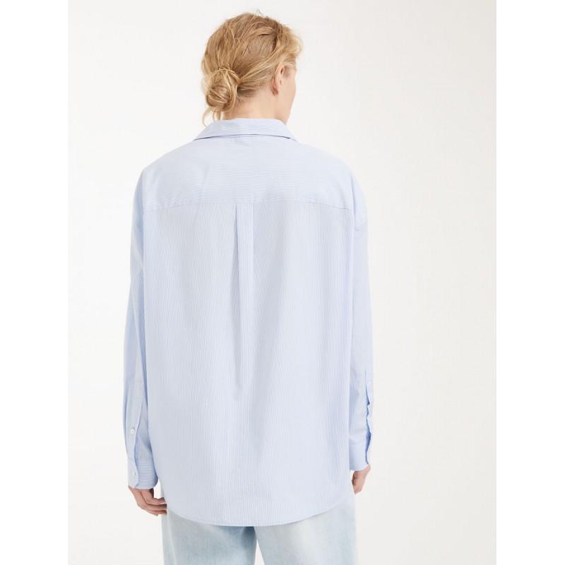 MAX MARA WEEKEND - Camicia in popeline di cotone - FERRARA -  Azzurro