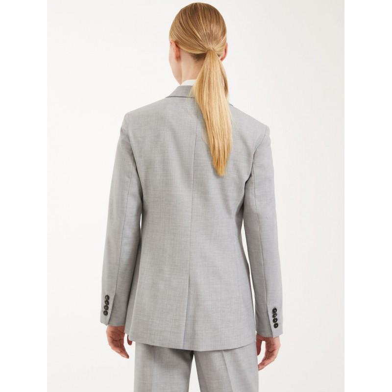 MAX MARA WEEKEND - Wool canvas blazer - Melange gray