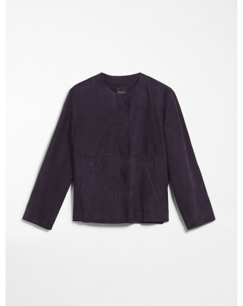 MAX MARA WEEKEND - Suede jacket - Blue