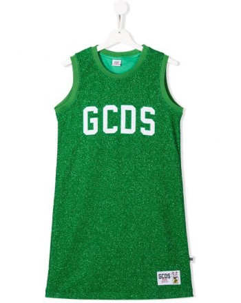 GCDS- Baby - ABITO lurex color green